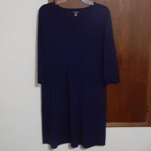 Deep purple Lands' End knit dress large petite